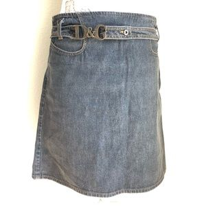D&G DENIM KNEE LENGTH SKIRT